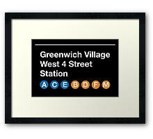 Greenwich Village Station Framed Print