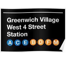 Greenwich Village Station Poster