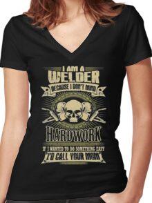 Welder Funny T-Shirt Women's Fitted V-Neck T-Shirt