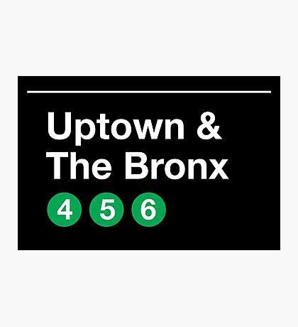 Uptown & The Bronx Photographic Print