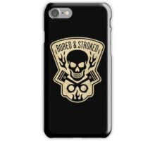 Bored & Stroked Vintage Motorcycle iPhone Case/Skin