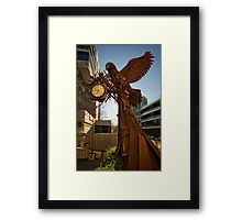 Iron bird close to the Nishi Building in Canberra/ACT/Australia (3) Framed Print
