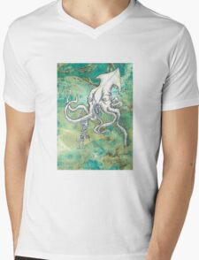 Squid & Noodles Mens V-Neck T-Shirt