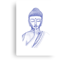 Shh ... do not disturb - Buddha  Canvas Print