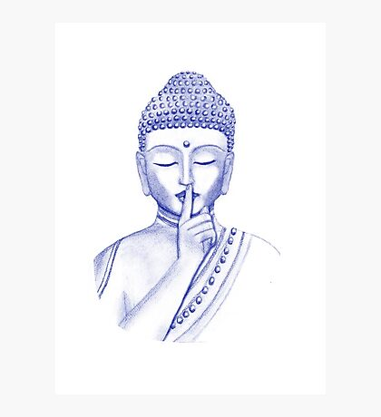 Shh ... do not disturb - Buddha  Photographic Print
