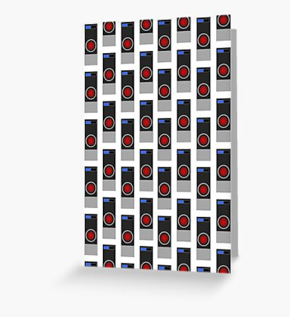 HAL-9000 Repeating Pattern Greeting Card
