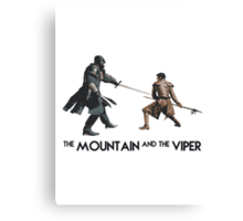 The Mountain and the Viper Inspired Artwork 'Game of Thrones' Canvas Print
