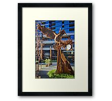 Iron bird close to the Nishi Building in Canberra/ACT/Australia (4) Framed Print