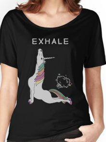 Unicorn - Exhale T-Shirt Women's Relaxed Fit T-Shirt