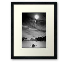 Sunburst over Glacier Grey Framed Print