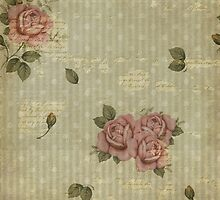 Grunged rose wallpaper by Melanie Moor