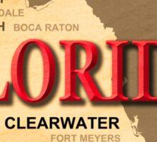 Antique Florida State Pride Map Silhouette  Sticker
