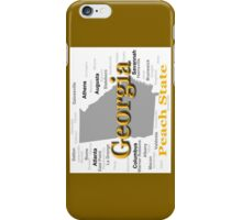 Georgia State Pride Map Silhouette  iPhone Case/Skin