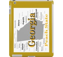 Georgia State Pride Map Silhouette  iPad Case/Skin