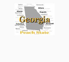 Georgia State Pride Map Silhouette  Unisex T-Shirt