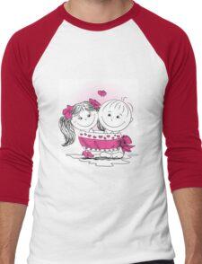 love man and woman bound bow Men's Baseball ¾ T-Shirt