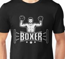 Boxer in boxing ring Unisex T-Shirt