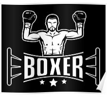 Boxer in boxing ring Poster