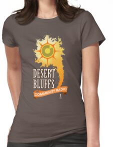 Desert Bluffs Community Radio Womens Fitted T-Shirt
