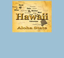 Aged Hawaii State Pride Map Silhouette  Unisex T-Shirt