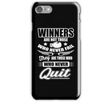 Boxing: Winners are those who never quit iPhone Case/Skin