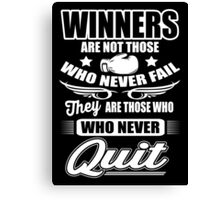 Boxing: Winners are those who never quit Canvas Print