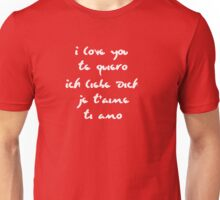I love you different languages Unisex T-Shirt