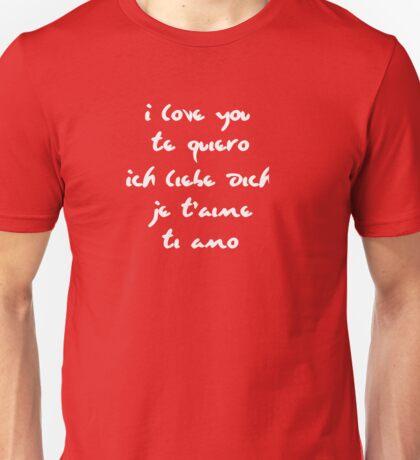 I love you different languages Unisex T-Shirt