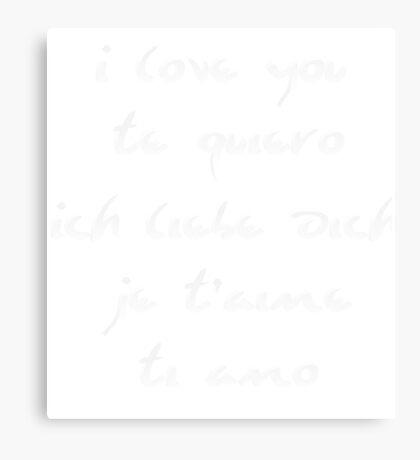 I love you different languages Canvas Print