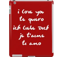 I love you different languages iPad Case/Skin