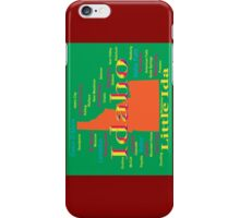 Colorful Idaho State Pride Map  iPhone Case/Skin