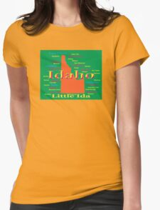 Colorful Idaho State Pride Map  Womens Fitted T-Shirt