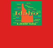 Colorful Idaho State Pride Map  Unisex T-Shirt