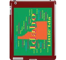 Colorful Idaho State Pride Map  iPad Case/Skin