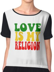Love Is My Religion Ziggy Marley Reggae Music Quotes Jamaica Bob Marley Chiffon Top