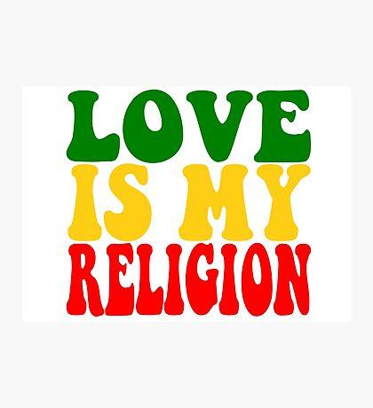 Love Is My Religion Ziggy Marley Reggae Music Quotes Jamaica Bob Marley Photographic Print
