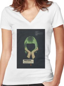 Dress To Kill Women's Fitted V-Neck T-Shirt