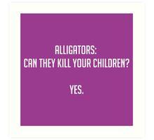 Alligators Art Print