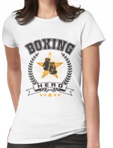 Boxing hero Womens Fitted T-Shirt