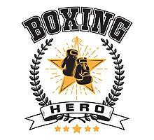 Boxing hero Photographic Print