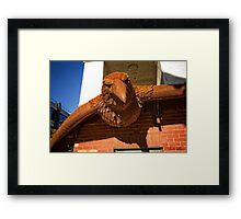 Iron bird close to the Nishi Building in Canberra/ACT/Australia (6) Framed Print