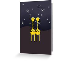 Giraffes in the Night VRS2 Greeting Card