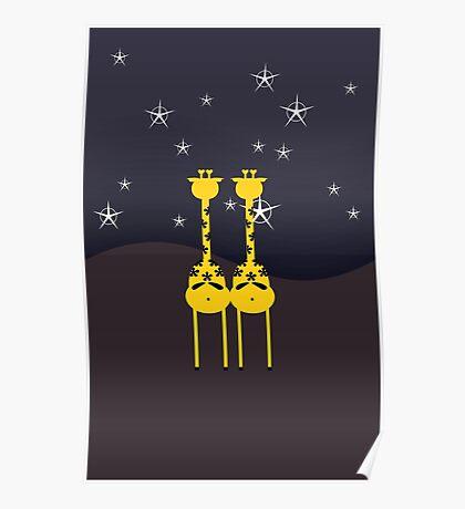 Giraffes in the Night VRS2 Poster