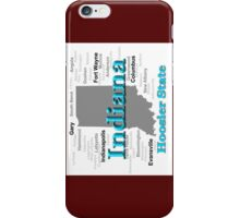 Indiana State Pride Map Silhouette  iPhone Case/Skin