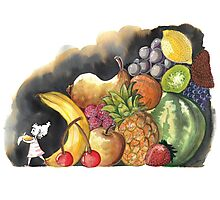 Fruits Salad Photographic Print