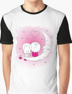 Loving couple man and woman  Graphic T-Shirt