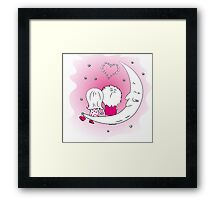 Loving couple man and woman  Framed Print
