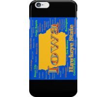 Colorful Iowa State Pride Map  iPhone Case/Skin
