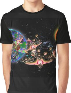 Galactic Cruisers and Escorts Leaving Planet Shypsoaria Graphic T-Shirt