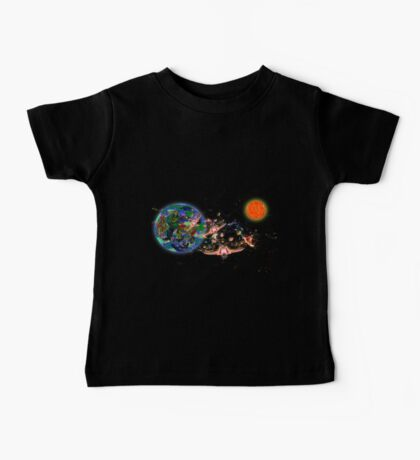 Galactic Cruisers and Escorts Leaving Planet Shypsoaria Baby Tee